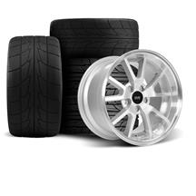 Mustang SVE FR500 Wheel & Drag Radial Tire Kit - 17x9/10.5  - Silver (94-04)