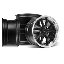 SVE Mustang FR500 Wheel Kit - 17x9/10.5  - Black w/ Machined Lip (94-04)