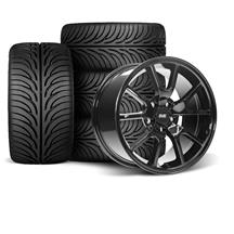Mustang SVE FR500 Wheel & Tire Kit - 17x9  - Gloss Black - Sumitomo Tires (94-04)