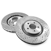 "Mustang Front Brake Rotors - 15"" - Drilled & Slotted (15-19)"