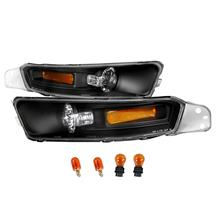 Mustang Front Bumper Park Lights  - Black  (05-09)