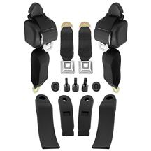 Mustang Front Seat Belt Kit  - Black (79-89)