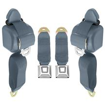 Mustang Front Seat Belt Set  - Crystal Blue (90-92)
