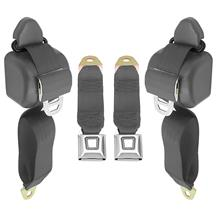 Mustang Front Seat Belt Set  - Dark Gray/SVO Gray (84-86)