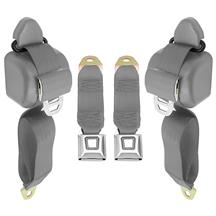 Mustang Front Seat Belt Set  - Opal Gray (1993)
