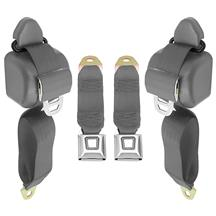 Mustang Front Seat Belt Set  - Smoke Gray (87-89)