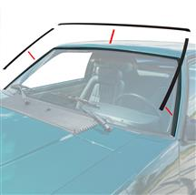 Mustang Front Windshield Molding Kit Black (79-93) Coupe/Hatchback