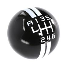 Mustang GT500 Style Shift Knob  - Black w/ White Shift Pattern (11-14)