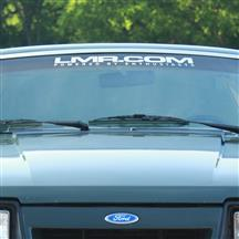 LMR.com Windshield Banner  - White