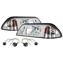 Mustang One Piece Headlight Kit Chrome (87-93)