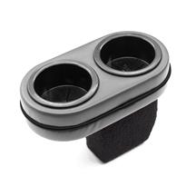 Mustang Plug And Chug Drink Holder  - Graphite with Black Cording (87-97)