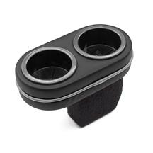 Mustang Plug And Chug Drink Holder  Two-Tone Black with Brushed Aluminum Look Piping (87-97)