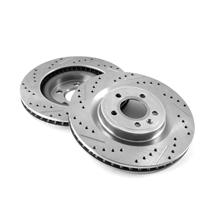 "Mustang Rear Brake Rotors - 13"" - Drilled & Slotted (15-19)"