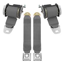 Mustang Rear Seat Belt Set  - Smoke Gray (87-89)