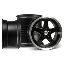 Mustang SVE Saleen SC Style Wheel Kit - 17x9 Black (94-04)