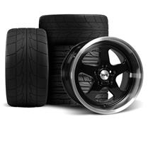Mustang SVE Saleen SC Style Wheel & Drag Radial Tire Kit  - 17x9/10 - Black - NT555R (94-04)
