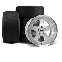 Mustang SVE Saleen SC Style Wheel & Drag Radial Tire Kit  - 17x9/10 - Silver - NT555R (94-04)