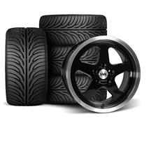 Mustang SVE Saleen SC Style Wheel & Tire Kit - 17x9 Black (94-04)