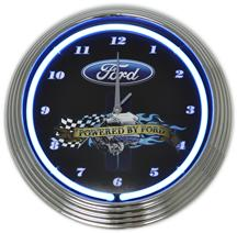 Powered By Ford Neon Clock