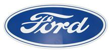 "Ford Oval Decal w/ White Background - 17""X8"""