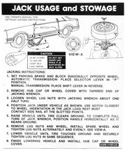 Mustang Coupe Jack Instructions Decal (79-81)