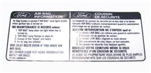 Mustang Air Bag Information Decal (90-93)