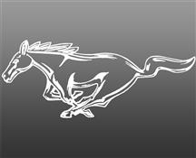 "Mustang 12"" Running Pony Decal LH White"