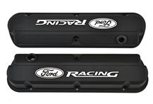 Mustang Ford Racing Logo Slant Edge Valve Covers Black (79-85)
