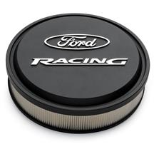 Mustang Ford Racing Slant-Edge Aluminum Air Cleaner  - Black Crinkle (79-85) 5.0/5.8