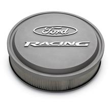 Mustang Ford Racing Slant-Edge Aluminum Air Cleaner  - Cast Gray Crinkle (79-85) 5.0 5.8