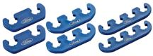 Mustang Spark Plug Wire Separator Set w/ Ford Logo  Blue (79-95)