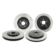 Mustang Stop Tech Brake Rotor Kit - Slotted - Front & Rear (13-14)