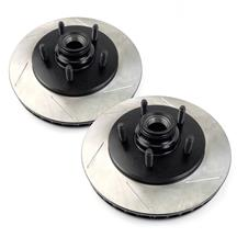 F-150 SVT Lightning Stop Tech Slotted Front Brake Rotors, Pair (00-04)
