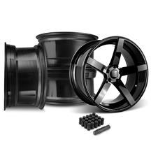 Mustang Rovos Durban Wheel & Lug Nut Kit - 20x8.5/10 Gloss Black (05-14)