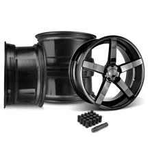 Mustang Rovos Durban Wheel & Lug Nut Kit - 20x8.5/10 Gloss Black (15-17)