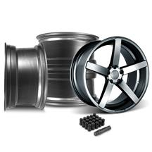 Mustang Rovos Durban Wheel & Lug Nut Kit - 20x8.5/10 Satin Gunmetal (05-14)