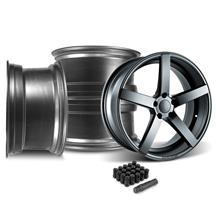 Mustang Rovos Durban Wheel & Lug Nut Kit - 20x8.5/10 Satin Gunmetal (15-17)