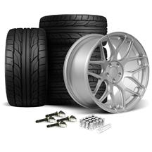 Mustang Rovos Pretoria Wheel & Tire Kit 20x8.5/10  - Satin Silver - NT555 G2 Tires (15-17)