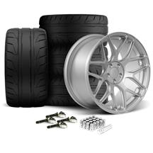 Mustang Rovos Pretoria Wheel & Tire Kit 20x8.5/10  - Satin Silver - NT05 Tires (15-17)