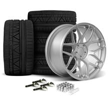 Mustang Rovos Pretoria Wheel & Tire Kit 20x8.5/10  - Satin Silver - 295 Invo Tires (15-17)