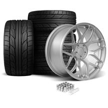 Mustang Rovos Pretoria Wheel & Tire Kit 20x8.5/10  - Satin Silver - NT555 G2 Tires (05-14)