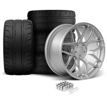 Mustang Rovos Pretoria Wheel & Tire Kit 20x8.5/10  - Satin Silver - NT05 Tires (05-14)