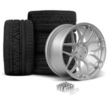 Mustang Rovos Pretoria Wheel & Tire Kit 20x8.5/10  - Satin Silver - 295 Invo Tires (05-14)
