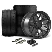 Mustang Rovos Pretoria Wheel & Tire Kit 20x8.5/10  - Satin Gun Metal - NT05 Tires (15-17)