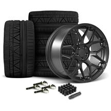 Mustang Rovos Pretoria Wheel & Tire Kit 20x8.5/10  - Satin Gun Metal - 295 Invo Tires (15-17)