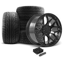 Mustang Rovos Pretoria Wheel & Tire Kit 20x8.5/10  - Gloss Black - Ohtsu Tires (05-14)