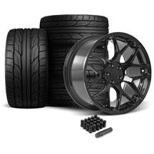 Mustang Rovos Pretoria Wheel & Tire Kit 20x8.5/10  - Gloss Black - NT555 G2 Tires (05-14)