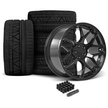 Mustang Rovos Pretoria Wheel & Tire Kit 20x8.5/10  - Gloss Black - 295 Invo Tires (05-14)