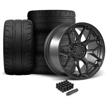 Mustang Rovos Pretoria Wheel & Tire Kit 20x8.5/10  - Satin Gun Metal - NT05 Tires (05-14)