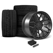 Mustang Rovos Pretoria Wheel & Tire Kit 20x8.5/10  - Satin Gun Metal - 295 Invo Tires (05-14)